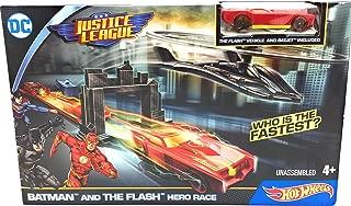 Hot Wheels DC Justice League Batman and The Flash Hero Race Playset Rare!