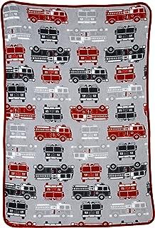 Carter's Toddler Printed Coral Fleece Blanket, Fire Truck