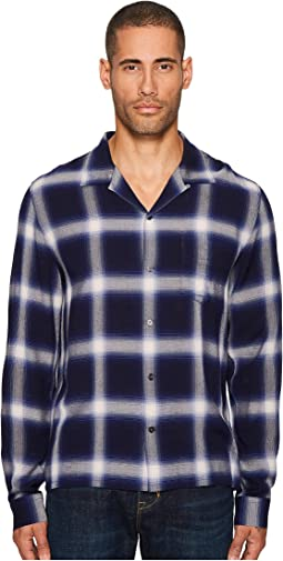 Ombre Plaid Long Sleeve Shirt