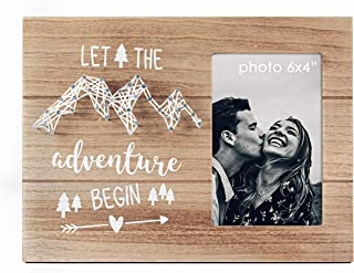 VILIGHT Wedding Gifts for The Couple Unique Picture Frames - Let The Adventure Begin - for Graduation Retirement and Engagement - 4x6 Inches Photo