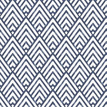 NuWallpaper NUS1701 NU1701 Arrowhead Deep Blue Peel & Stick Wallpaper