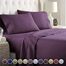 Hotel Luxury Bed Sheet Set-Sale Today ONLY! On Amazon Softest Bedding 1800 Series Platinum Collection-100%!Deep Pocket,Wrinkle & Fade Resistant(Twin, Eggplant)