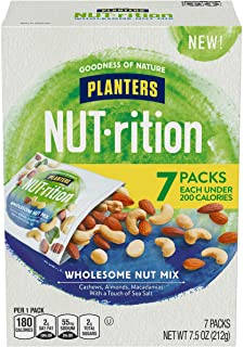 NUT-rition Wholesome Nut Mix, 7.5 oz Box (Contains 7 Individual Pouches) - Cashews, Almonds and Macadamias Snack Mix - No Artificial Flavors, No Artificial Colors, No Preservatives - Kosher