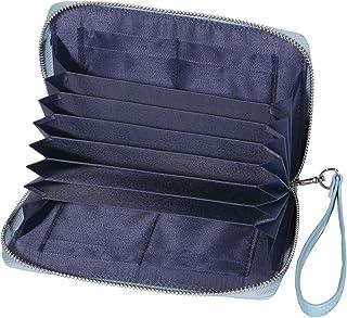BLUE SINCERE 通帳ケース 磁気防止 大容量 カード12枚収納 通帳入れ 革 レザー レディース RFID パスポートケース カードケース 小銭も入る 財布 TC1