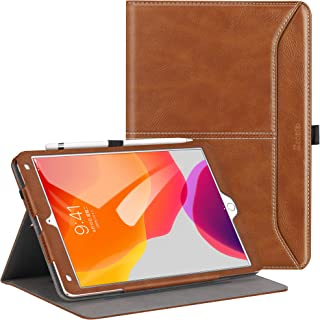 Ztotop for iPad 7th Generation Case iPad 10.2 Case 2019, Premium PU Leather Slim Folding Stand Cover with Auto Wake/Sleep, Multiple Viewing Angles Case for iPad 7th Gen 10.2 Inch, Brown