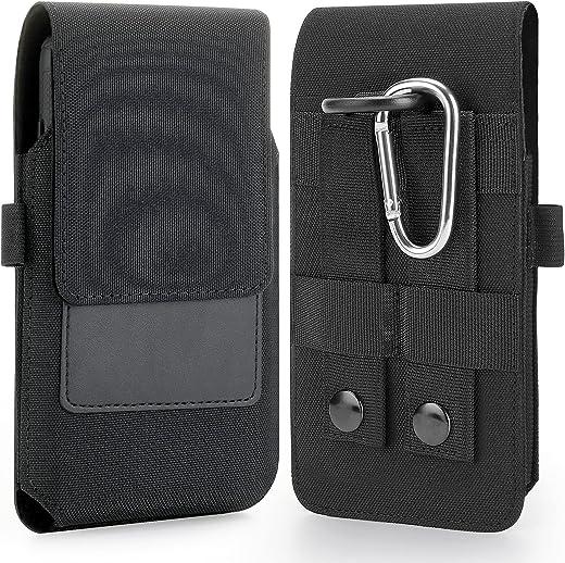 BECPLT iPhone 12 Pro Ceinture Étui, Galaxy S21Cuir de Protection Porte-Cartes en Holster Clip Coque, Fermeture Aimantée pour iPhone 11 XS 12 Pro...