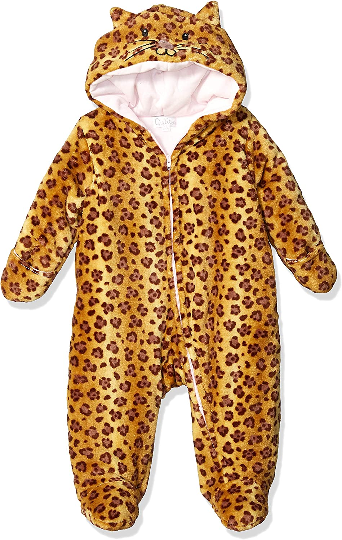 Quiltex Girls' Toddler Cute Kitty Heavyweight Warm Pram Suit