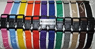 CollarSafe Light Weight Soft Nylon Puppy ID SNAP Buckle Collars - Puppy Identification Litter Whelping Collars