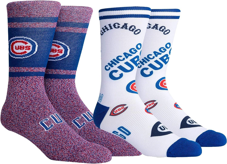 PKWY Unisex 2-Pack Cubs Crew Socks