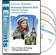 Adobe Photoshop Elements 2019 Tutorial Training on 3 DVDs 19 Hours