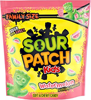 SOUR PATCH KIDS Watermelon Candy, 4 Family Size Bags (1.8 lb)