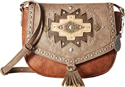 American West Earth Bound Crossbody Flap Bag