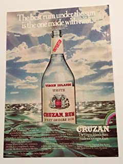 1977 Cruzan Rum Magazine Print Advertisement