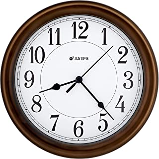 8.5 Inch Simply High-end Plastic Decorative Wall Clock, Water Resistant, Special for Small Space, Office, Boats, RV (W86011 Oil Rubbed Bronze)