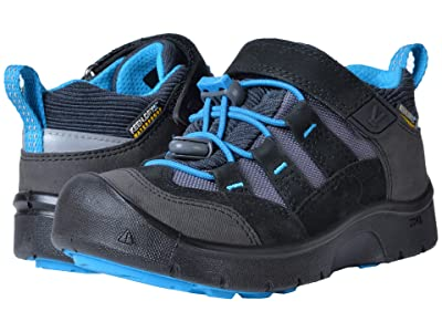 Keen Kids Hikeport WP (Toddler/Little Kid) (Black/Blue Jewel) Boy