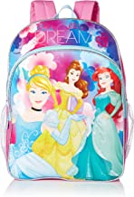 Disney Little Girls Princess Dare To Dream 16 Inch Backpack, Pink/Blue, One Size