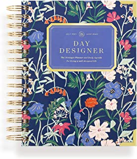$54 » Day Designer 2021-2022 Academic Year Mini Daily Planner, Life and Goal Yearly Planner, Wildflowers Hardcovers, Spiral Boun...