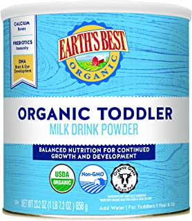 Earth's Best Organic Toddler Milk Drink Powder, Natural Vanilla, 23.2 oz.