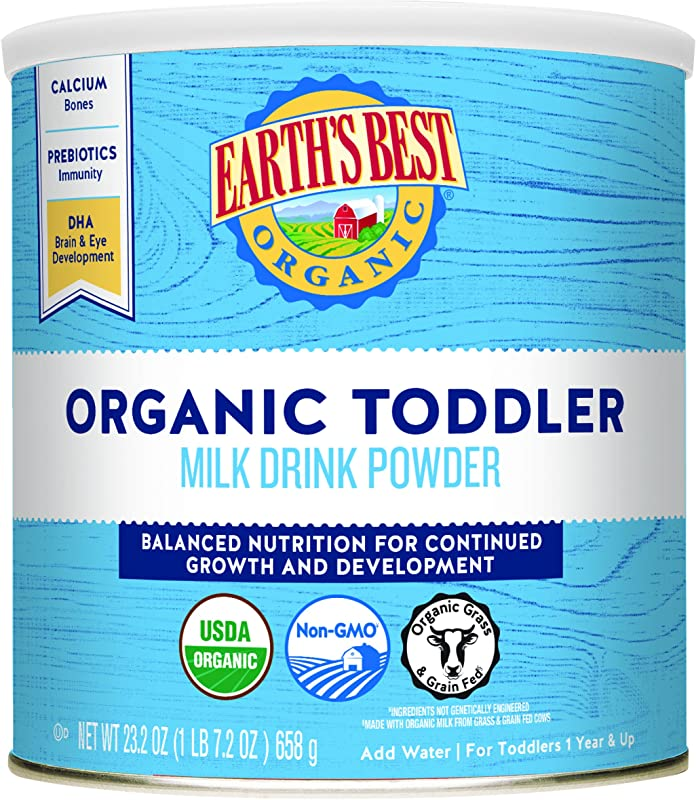Earth S Best Organic Toddler Milk Drink Powder Natural Vanilla 23 2 Ounce