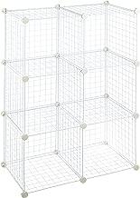 AmazonBasics - Estantes de almacenamiento, Seis cubos, de alambre - Blanco