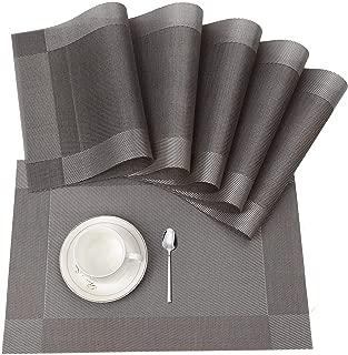 ISIYINER Mantel individual antideslizante de PVC lavable con