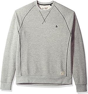 Original Penguin 男式纯色插肩袖圆领毛衣