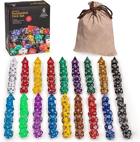disfruta ahorrando 30-50% de descuento 126 Polyhedral Dice Dice Dice - 18 Colors w  Complete set of d4 d6 d8 d10 d12 d20 d% by amarillo Mountain Imports  Venta barata