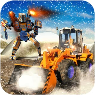 Snow Excavator Crane Robot Transform Rescue Games