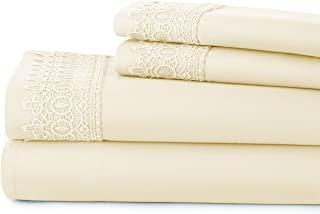 Southshore Fine Linens Set of 2 Pillows LACE Cases - Off White - Full/Queen