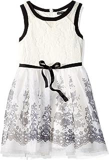 فستان للمناسبات الخاصة الكبيرة للفتيات من My Michelle مطبوع من التل