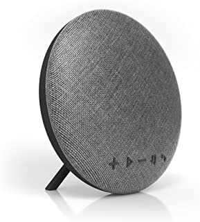 Deco Series Speaker by Tzumi - Large Wireless Bluetooth Fabric Speaker - Add Powerful Sound and Ambiance to Any Room - Grey
