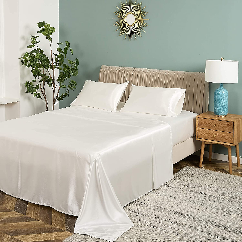 Sakura Bedding Satin Sheets Our shop most popular Set Soft Pieces Silky half 4