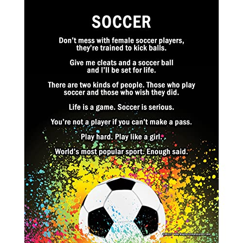 """Posters and Prints by Magnetic Impressions Unframed Soccer Female Player Splatter 8"""" x 10"""""""