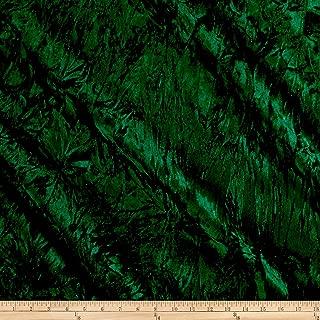 Best dark green crushed velvet fabric Reviews