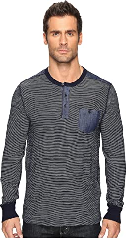 Surfside Indigo Stripe Henley