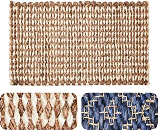 """Doormat Handwoven Strongest Natural Fiber Abaca Decorative Durable Reversible Easy Clean Washable ECO-Friendly Non-Toxic Sustainable Long-Lasting Elegant Handmade (18"""" x 30"""