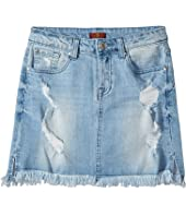 7 For All Mankind Kids - Denim Skirt in Bright Bristol (Big Kids)