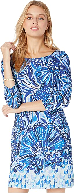Iris Blue Zanzibar Zoo Engineered Knit Dress
