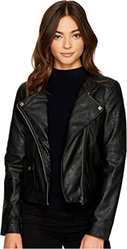 Jack by BB Dakota - Louis Drapey Soft PU Cropped Jacket