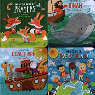 Four Books with last page Pop-Up: The Story of Noah's Ark/ My Little Book of Prayers/ God Created Everything!/ The Story of Jonah and the Whale