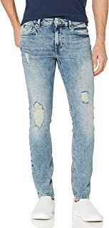 Men's Low Rise Skinny Fit Ripped Jean
