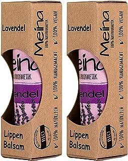 Meina Naturkosmetik - Natürlicher Lippenbalsam mit Lavendel 2 x 5 g Vegan Lip Balm gegen trockene Lippen