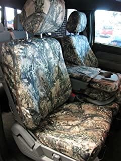 Durafit Seat Covers Made to fit 2011-2013 F150-F550 XLT and Lariat 40/20/40 Split Seat with Opening Center Console in MC2 Camo Endura.