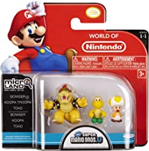 NINTENDO Mario Bros Universe Micro Wave 1: Bowser, Koopa Troopa and Toad Action Figure, 3-Pack
