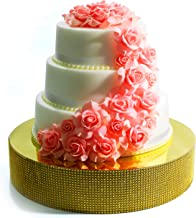 Cakebon Wedding Cake Stand - Gorgeous Cake Display Centrepiece for Wedding Cakes, Cupcakes and Desserts (Gold - 18 inches - Round)