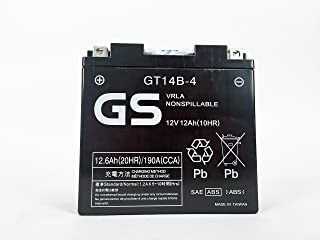 GT14-B4 Factory Activated by GS BATTERY, a subsidiary of GS YUASA; The World's Leading Manufacturer of Powersports Batteries
