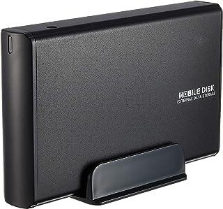 玄人志向 3.5型HDDケース SATA接続 電源連動 USB2.0対応 マットブラック GW3.5AA-SUP/MB