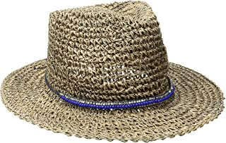 'ale by alessandra Women's Trancoso Crochet Seagrass Hat With Beaded Metal Trim