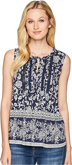Sleeveless Lace Mix Top