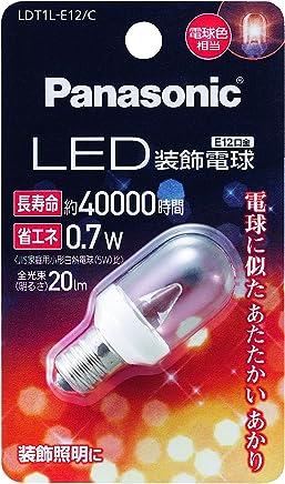 パナソニック LED電球 密閉形器具対応 E12口金 電球色相当(0.7W) 装飾電球・T型タイプ LDT1LE12C